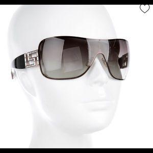 24 hr. Sale! VERSACE Shield Crystal Sunglasses